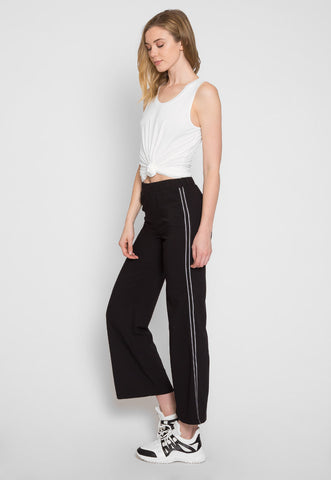 Track Lane Wide Leg Pants