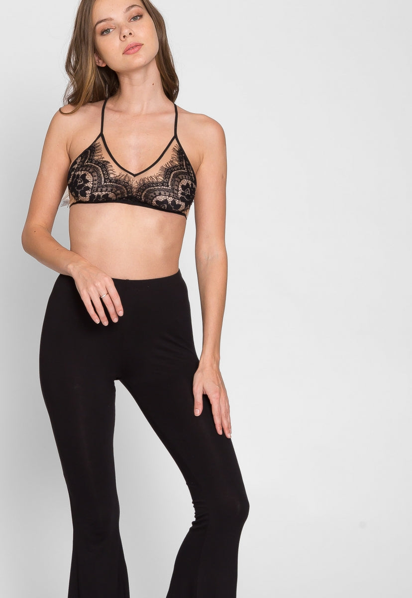 So Hot Eyelash Lace Bralette in Black - Intimates & Lingerie - Wetseal