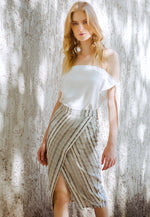 Duncan Stripe Tulip Skirt