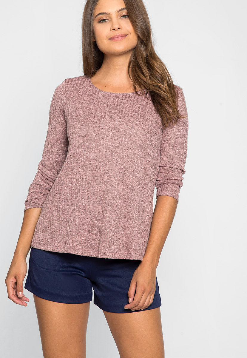 Soft and Comfy Knit Top - Shirts & Blouses - Wetseal