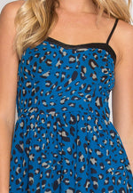 Mystic Leopard Fit and Flare Dress