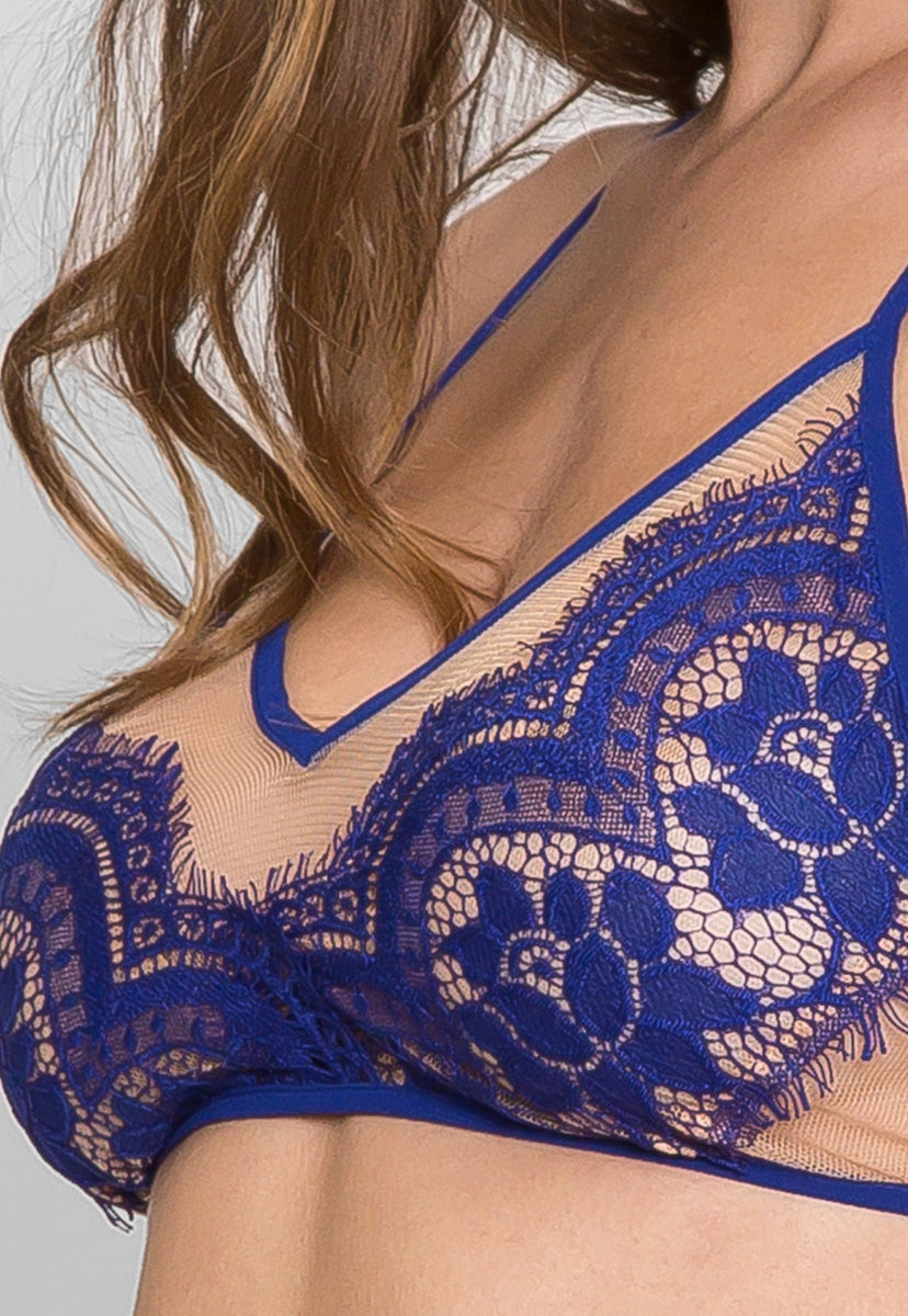 d5dcfadd244d9 So Hot Eyelash Lace Bralette in Blue