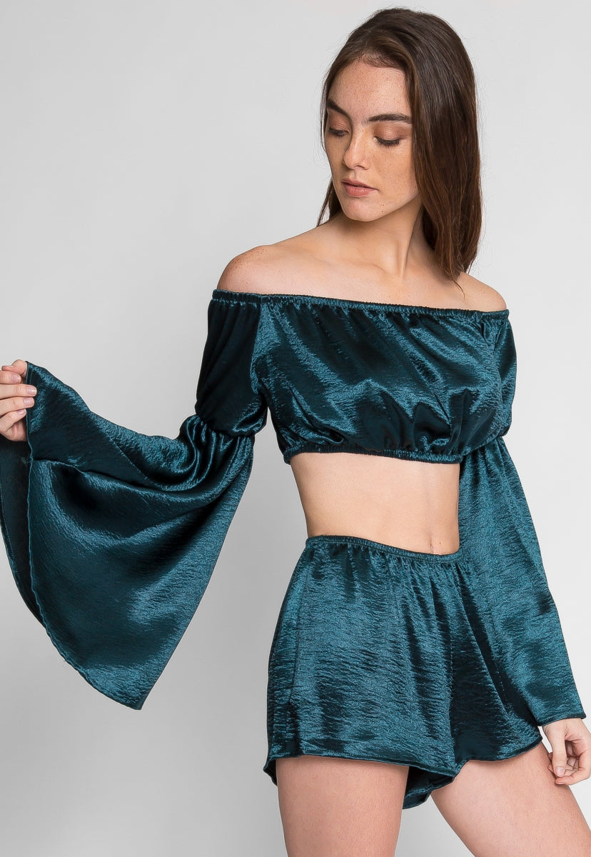 Urban Satin Two Piece Set - Set - Wetseal