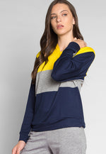 Gamers Color Block Hoodie in Yellow