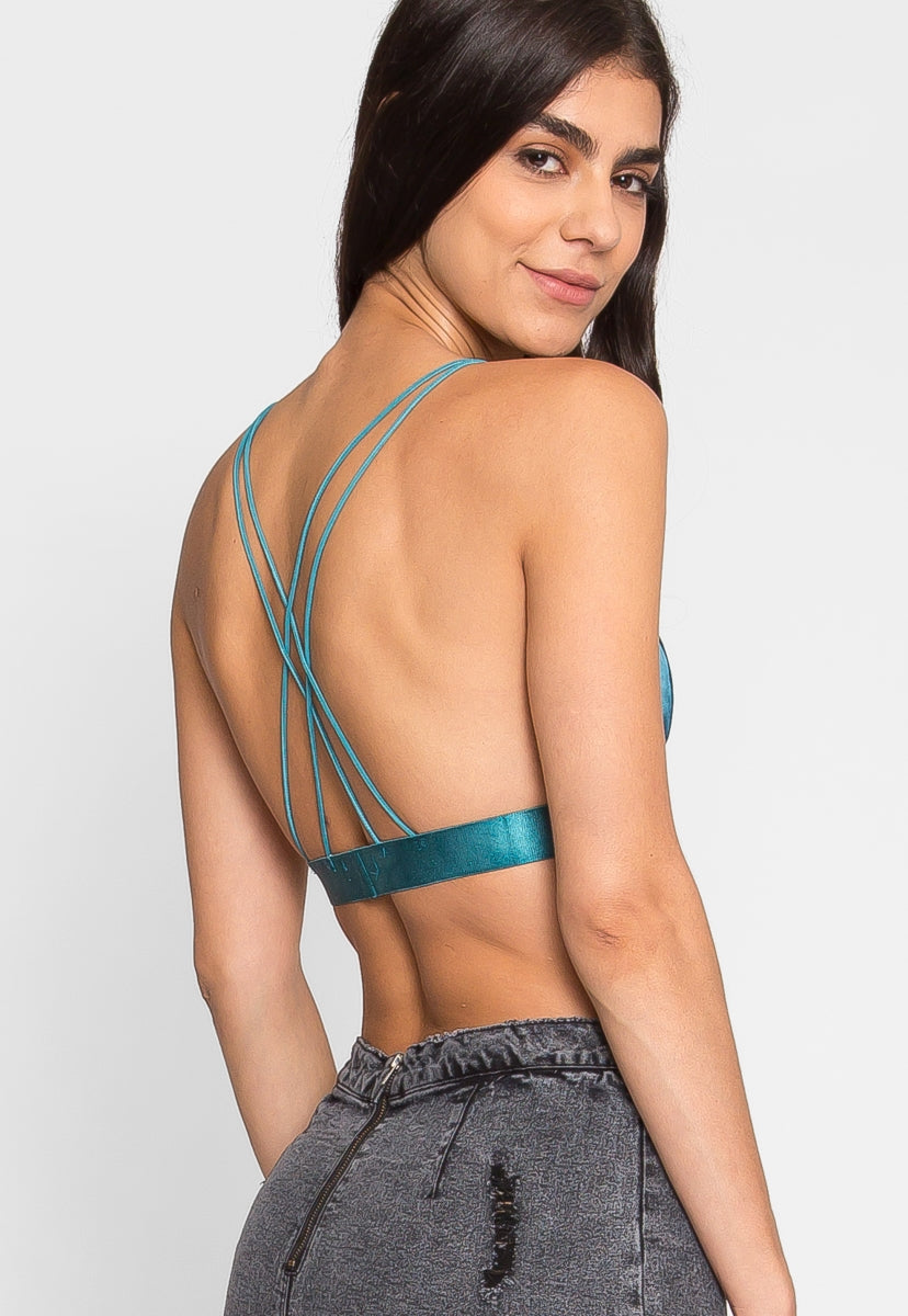Tampa Satin Bralette in Teal - Intimates & Lingerie - Wetseal