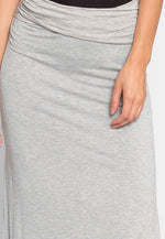Basic Slit Maxi Skirt