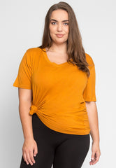 Plus Size Greatest Boxy Tee In Orange by Wet Seal