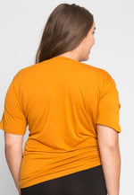 Plus Size Greatest Boxy Tee in Orange
