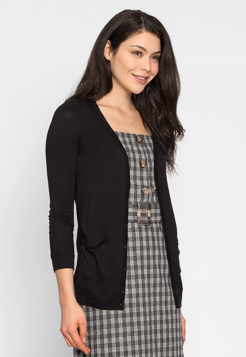 Feeling Good V Neck Cardigan - Sweaters & Sweatshirts - Wetseal