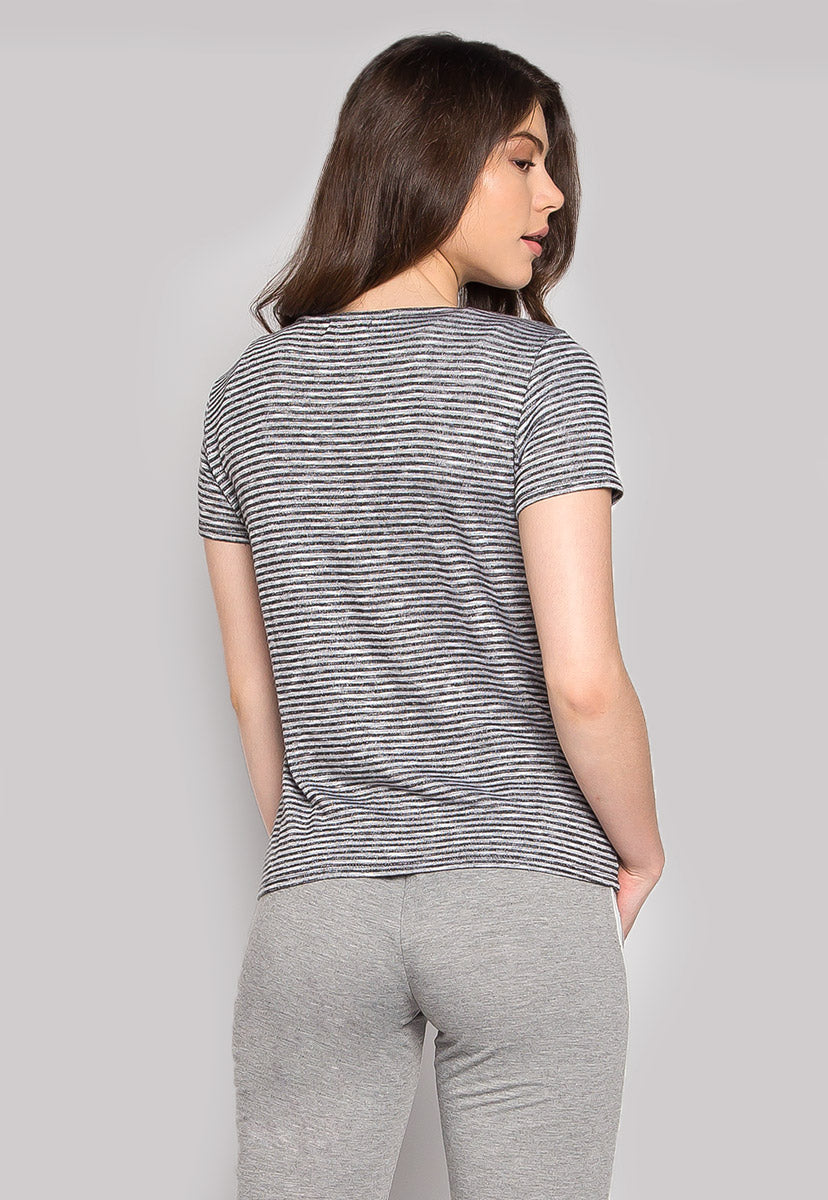 Walk in The Rain Chest Pocket Stripe Tee - T-shirts - Wetseal