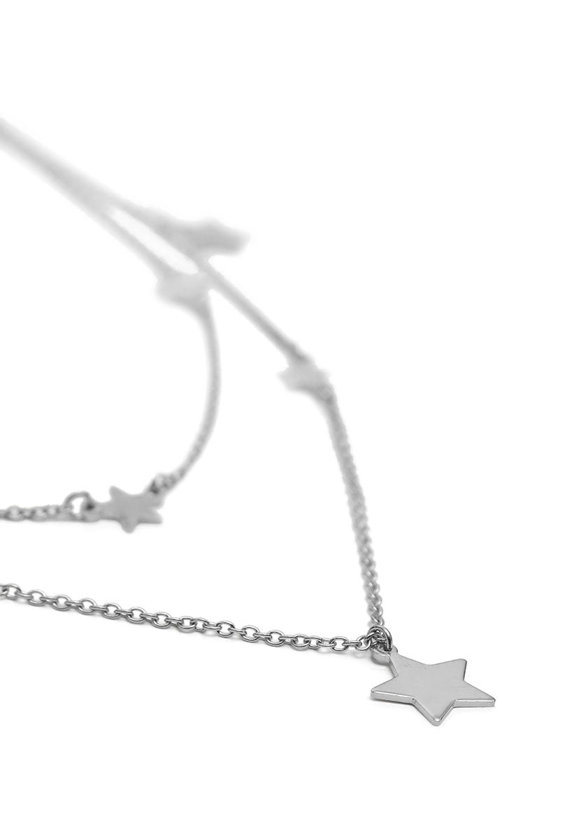 Star Bright Layered Necklace in Silver - Jewelry - Wetseal