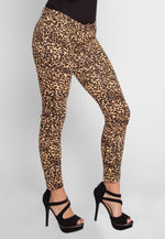 Kissy Leopard Ponte Knit Pants