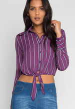 Applause Stripe Button Up Shirt