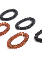 Telephone Cord Hair Tie Set in Black