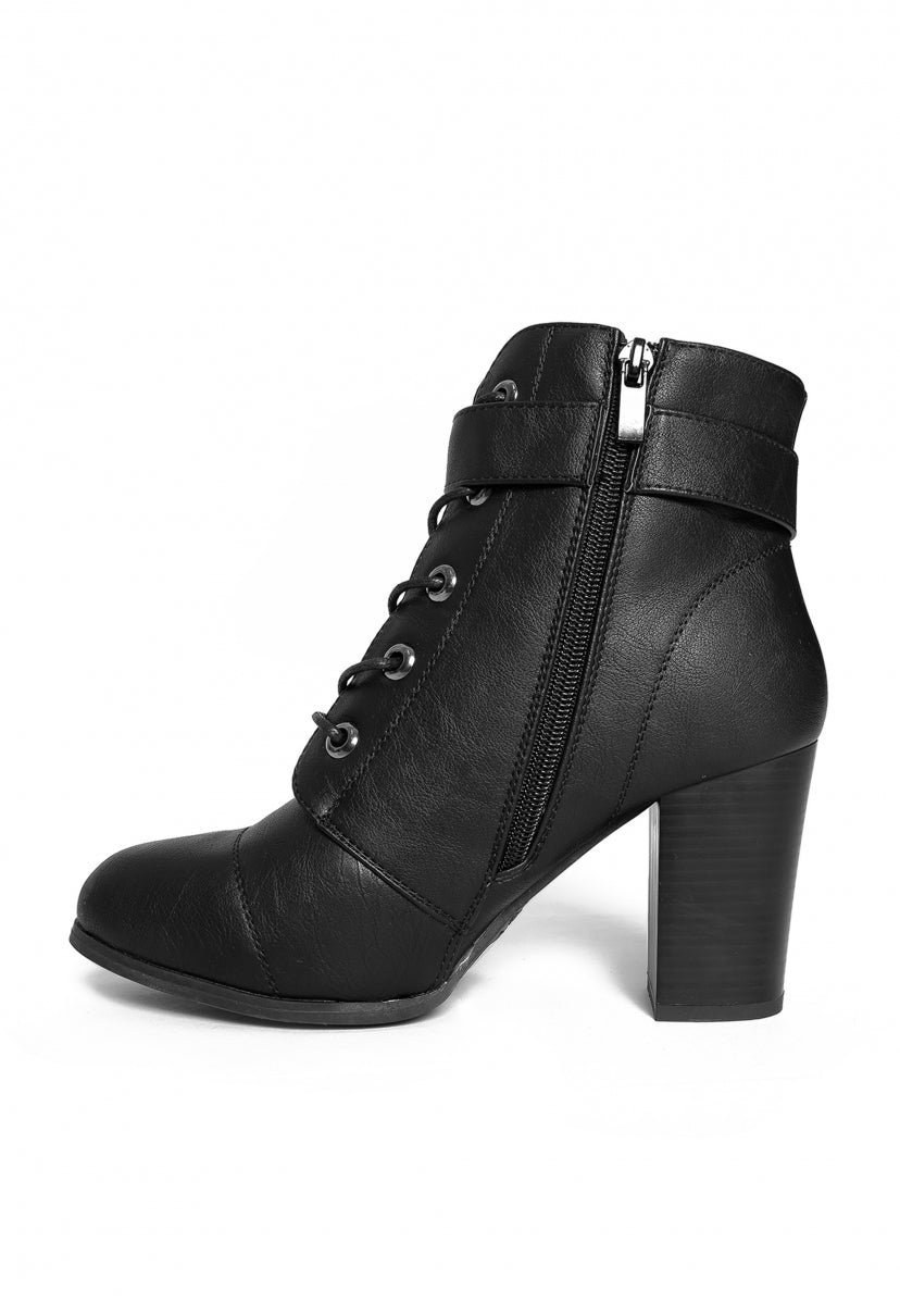 Take Charge Ankle Boots in Black - Shoes - Wetseal