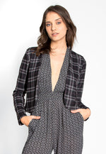 Taylor Plaid Open Front Jacket