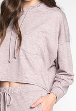 Meet You There Cropped Hoodie in Lilac