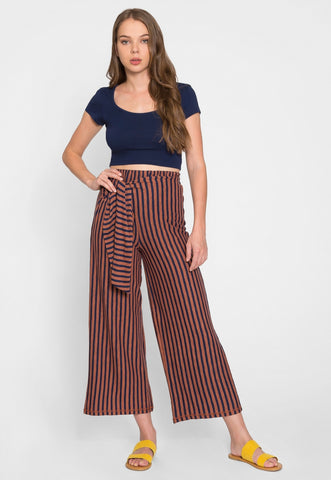 Fischer Side Tied Stripe Pants
