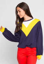 Dreams Athletic Sweater in Yellow