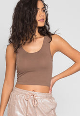 Emma Crop Tank Top In Eggshell by Wet Seal
