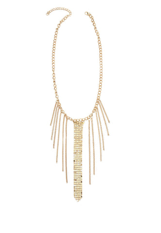 Chainmail Fringe Choker in Gold