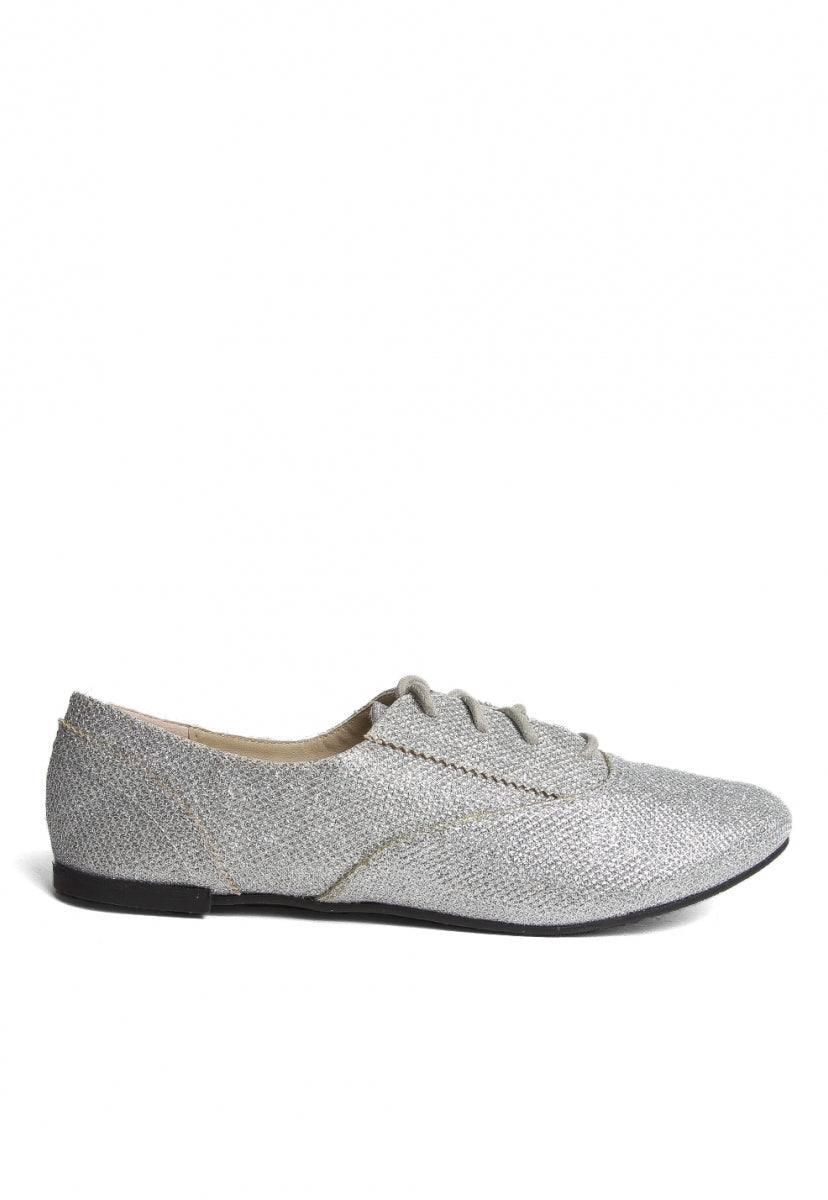 Tyra Glitter Oxford Flats - Shoes - Wetseal