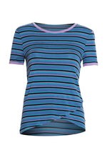 Huntington Retro Stripe Tee in Blue