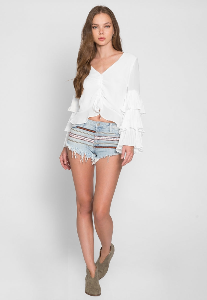 Boho Trim Denim Shorts - Short - Wetseal
