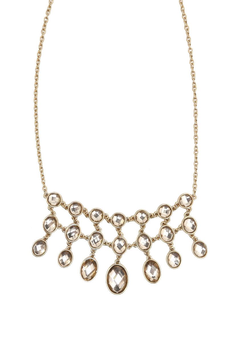 Crystal Drops Necklace Set - Jewelry - Wetseal