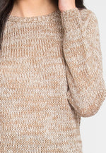 Pine Tree Pullover Sweater in Taupe
