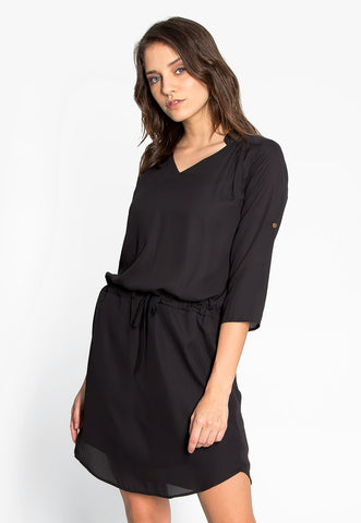Classic & Chic Roll Tab Sleeves Dress