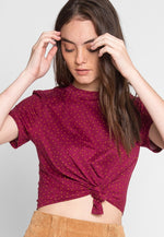 Star Gaze Polka Dot Crop Tee