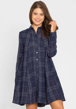 Bonfire Plaid Shirt Dress