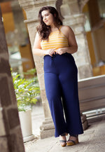 Plus Size Game On Knit Pants in Navy