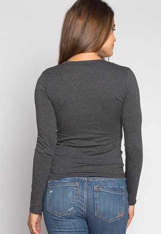 Daydream Long Sleeve Tee in Charcoal