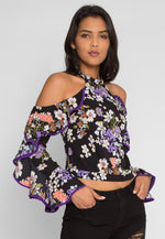 Weiss Floral Cold Shoulder Top
