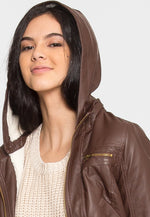 Sherpa Lining Faux Leather Jacket