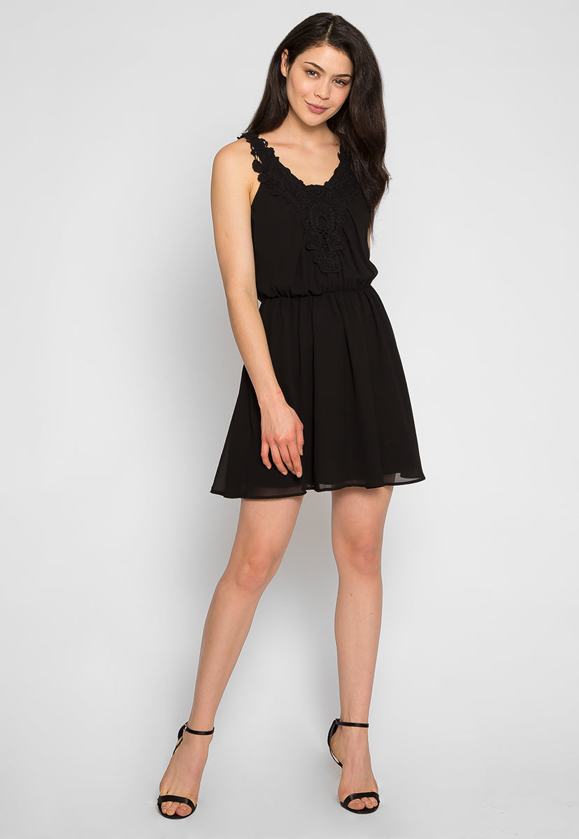 Crazy About You Front Lace Dress - Dresses - Wetseal