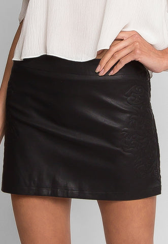 Buckman Leather Mini Skirt