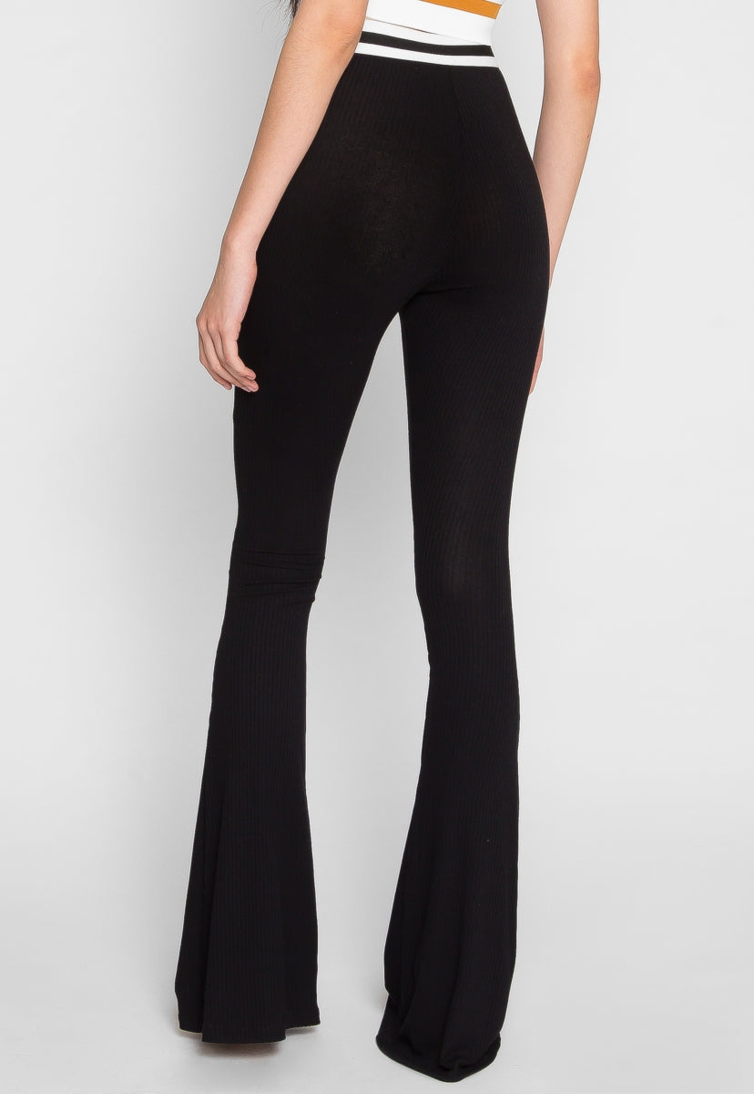 Go Off Knit Flare Pants - Pants - Wetseal
