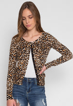 Wild Side Cardigan in Brown Leopard