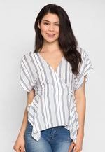 Florida Wrap Asymmetric Blouse