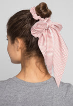 Pond Polka Dot Tail Scrunchie in Pink