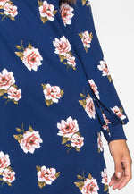Happy Soul Floral Dress in Navy