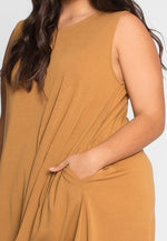Plus Size Tunic Dress in Coffee