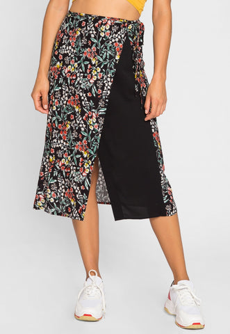 Wright Floral Midi Skirt