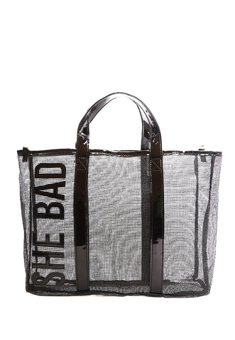She Bad Mesh Satchel Bag