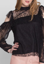 Magnificent Lace Cold Shoulder Blouse