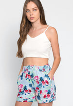 Daydreaming Floral High Waist Shorts