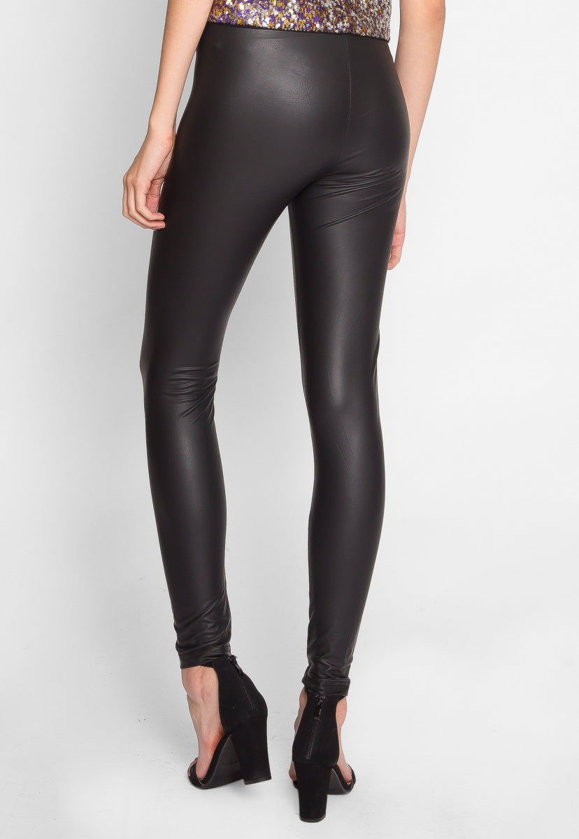 Viva Faux Leather Leggings - Pants - Wetseal